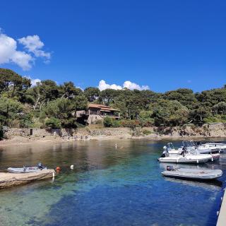 On ne se lassera jamais du petit Port du Niel !  A-t-on vraiment besoin de vous convaincre d'y aller ? 🤔  Que ce soit pour y déjeuner 🍽️, prendre un bain de soleil 🌞, acheter du poisson frais directement auprès des pêcheurs 🎣 ou encore marcher le long du sentier du littoral 👣, les raisons ne manquent pas.  🚙 À 15 minutes en voiture, 🚲 ou à 35 minutes à vélo, depuis l'aéroport Toulon Hyères.  📸 Une vue rafraîchissante par @magauxbl