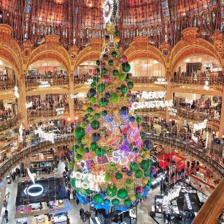 Le sapin de Noël est installé aux Galeries Lafayette 📍Paris . . . #DepartToulonHyeres #Voyage #Citybreak #Decouverte #Aeroport #spotter #Aviation #Aviationspotter #France #VisitParis #Christmastree #Galerieslafayette